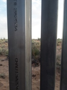 Border wall up close